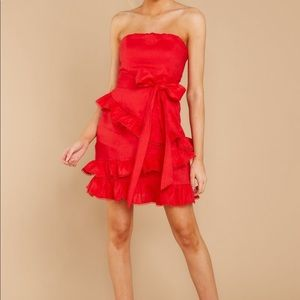 red bow tie dress